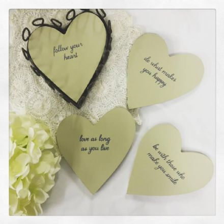 50% off Follow your heart coasters (set of 4)